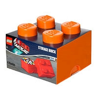 Четырехточечный оранжевый контейнер для хранения Lego 40031753