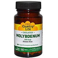 Молибден (Molybdenum), Country Life, 150 мкг, 100 таблеток