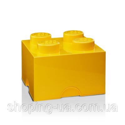 Четырехточечный желтый контейнер для хранения Lego 40031732