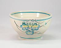 Миска керамическая 500мл (рисунок - голубые цветы)