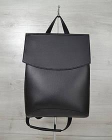 Молодежный сумка-рюкзак черного цвета (Арт. 44201)   1 шт.