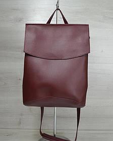 Молодежный сумка-рюкзак бордового цвета (Арт. 44204)   1 шт.
