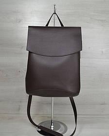 Молодежный сумка-рюкзак шоколадногоо цвета (Арт. 44205)   1 шт.