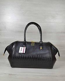 Классическая женская сумка Оливия черный крокодил (Арт. 31903)   1 шт.