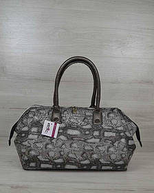 Классическая женская сумка Оливия серая змея (Арт. 31905)   1 шт.