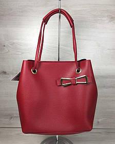 2в1 Молодежная женская сумка Бантик красного цвета (Арт. 55002) | 1 шт.
