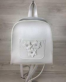 Молодежный рюкзак Цветы серебряного цвета (Арт. 44311)   1 шт.