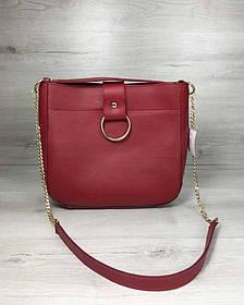 Молодежная женская сумка Ева красного цвета (Арт. 55102)   1 шт.