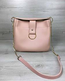 Молодежная женская сумка Ева пудрового цвета (Арт. 55110)   1 шт.