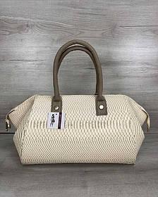 Классическая женская сумка Оливия бежевая рептилия (Арт. 31908)   1 шт.