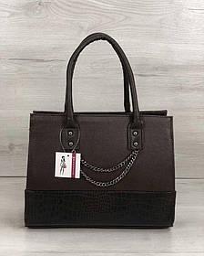 Каркасная женская сумка Селин с цепочкой шоколадного цвета (Арт. 32201)   1 шт.