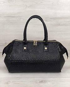 Классическая женская сумка Оливия черная рептилия (Арт. 31909)   1 шт.