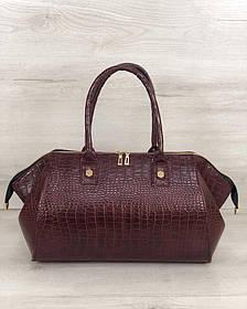Классическая женская сумка Оливия бордовый крокодил (Арт. 31910)   1 шт.