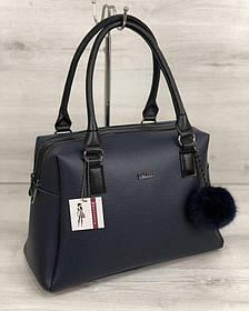 Женская сумка Агата синего цвета (Арт. 55903)   1 шт.