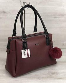 Женская сумка Агата бордового цвета (Арт. 55907)   1 шт.