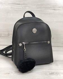 Молодежный рюкзак Бонни с пушком черного цвета (Арт. 44404)   1 шт.