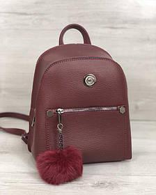Молодежный рюкзак Бонни с пушком бордового цвета (Арт. 44407)   1 шт.