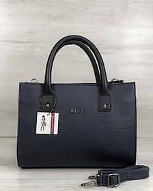 Молодежная женская сумка Ханна синего цвета (Арт. 56103)   1 шт.