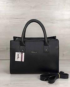 Молодежная женская сумка Ханна черного цвета (Арт. 56104)   1 шт.