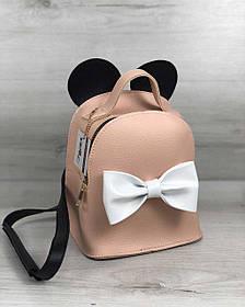 Сумка - рюкзак Микки пудрового цвета (Арт. 45210)   1 шт.