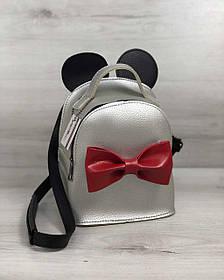 Сумка - рюкзак Микки серебряного цвета (Арт. 45211)   1 шт.