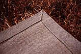 Дизайнерський килим, килими локшина шоколадний колір, сучасні елітні килими, фото 5