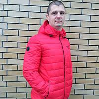 Молодежная мужская куртка весенняя красная