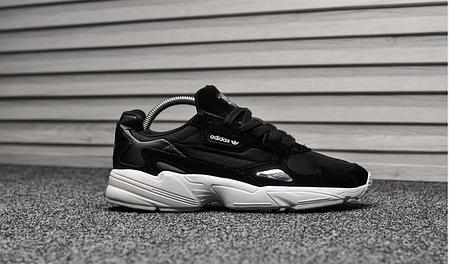 Женские кроссовки Adidas Falcon Black White топ реплика, фото 2