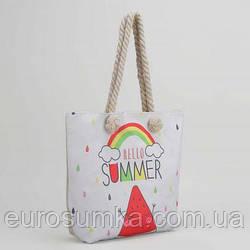 Пляжные сумки с логотипом. Летние сумки