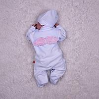 Велюровый слип с крыльями Angel (белый+розовый), фото 1