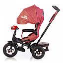 Трехколесный велосипед TILLY CAYMAN красный лен усиленная рама поворот сидения надувные колеса музыка и свет, фото 3