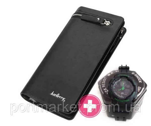 Мужское портмоне кошелек Baellerry Italia + Часы Casio G-Shock