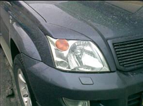 Реснички на фары Fiat Doblo(2005-)