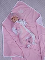 """Летний набор для девочки """"Королевский"""", розовый с белым, фото 1"""