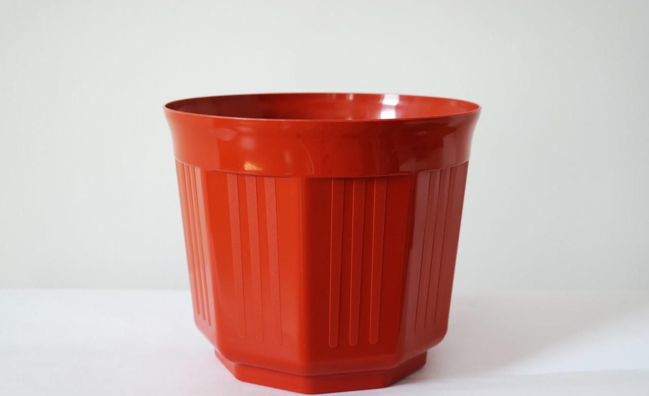 Пластиковый Горшок для цветов Октава Терракотовый 13,5см 0,8 литров без подставки