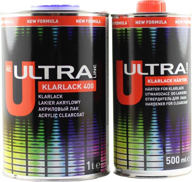 Лак Ultra Line 400 Klarklack 1л + Отвердитель 0.5л