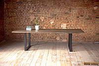 Стол Loft L-25, 2200*1000, массив ясеня или дуба. Мебель лофт