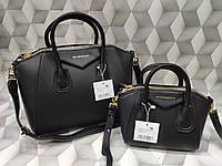 Сумка Givenchy Дживанши качественная эко-кожа черная