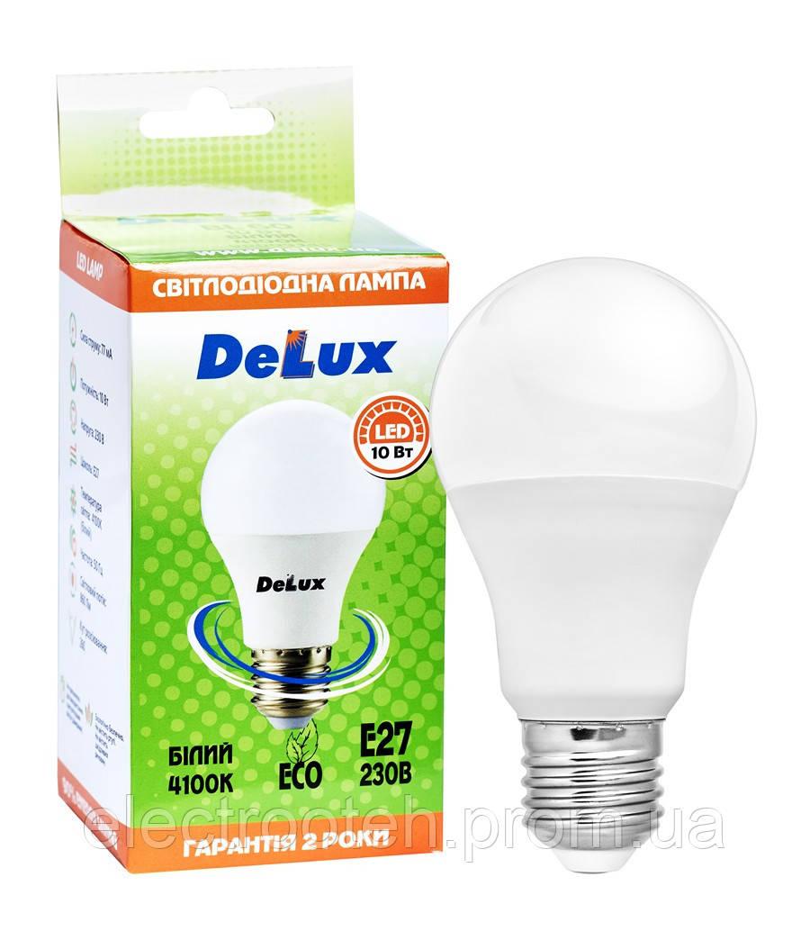 Лампа світлодіодна DELUX BL60 10 Вт 4100K Е27 білий
