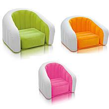 Надувное детское велюровое кресло Intex 68597
