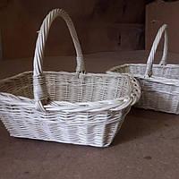 Плетеный набор из белой лозы, фото 1