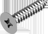Саморез из нержавеющей стали А2 по металлу с потайной головкой, крест. шлиц(ROZIDRIV) DIN 7982