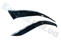 Дефлекторы окон (ветровики) Kia Spectra (sedan)(2005-) с хромированным молдингом