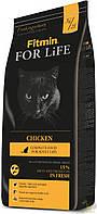 Сухой корм кoшeк Fitmin cat For Life Chicken с курицей Чехия