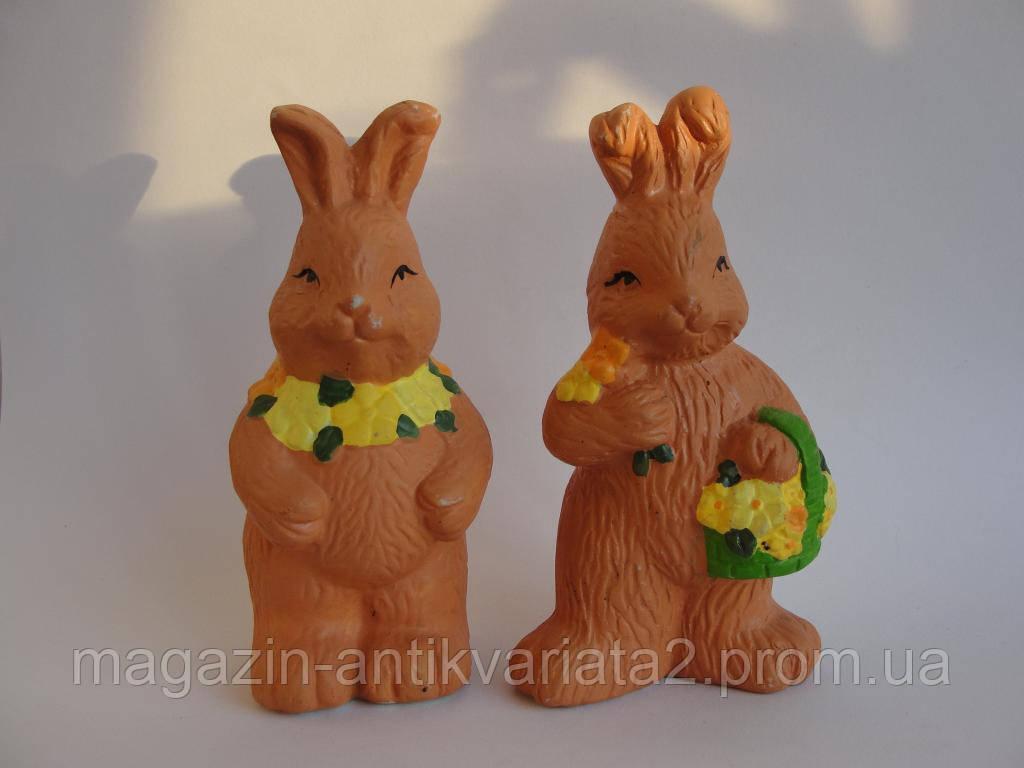 Кролики с цветами! Пара!