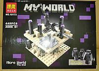 Конструктор Bela 10173 Майнкрафт Minecraft Микромир: Край. Конец 440 деталей, фото 1