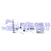 Монтажный комплект барабанных колодок FORD FIESTA 2008- (1550203/8V512A225AA/0882Q) ABS, фото 1