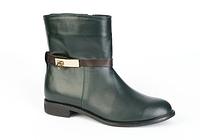 Женские черные кожаные демисезонные ботинки ТМ Vels 1355