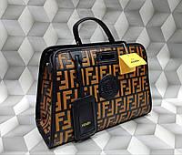 Женская сумка копия Фенди Fendi Двойная качественная эко-кожа дорогой Китай