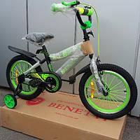 Детский велосипед 16 Benetti Bino черно - зелёный
